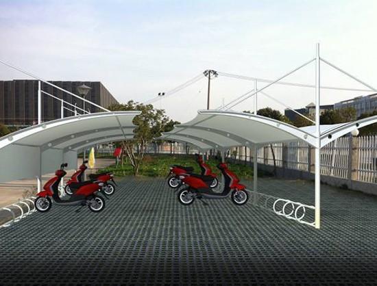 江苏膜结构自行车棚